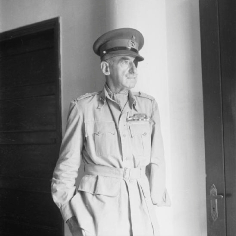 Half length portrait of Lieutenant General Adrian Carton de Wiart VC, Mr Churchill's special representative in Chungking.