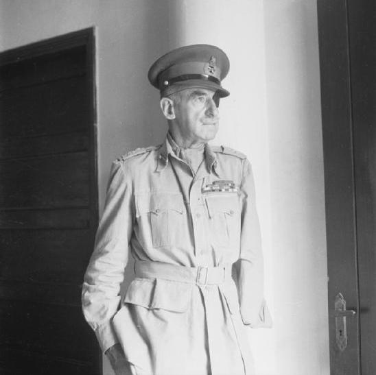 Half length portrait of Lieutenant General Adrian Carton de Wiart VC, Mr Churchill's special representative in Chungking.