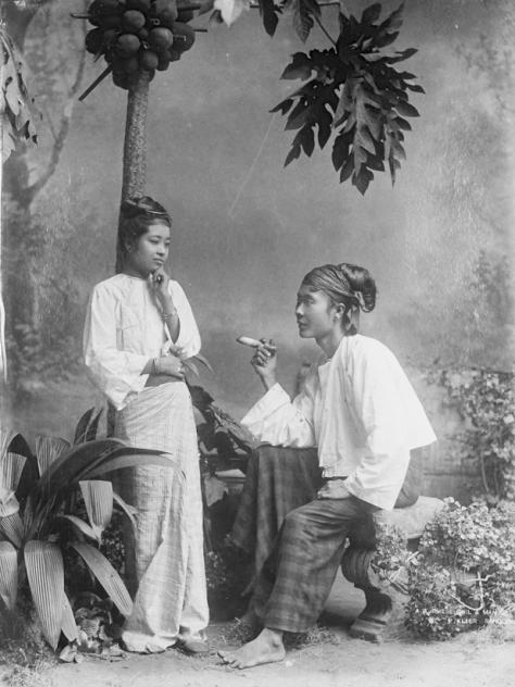 A Burmese girl and man