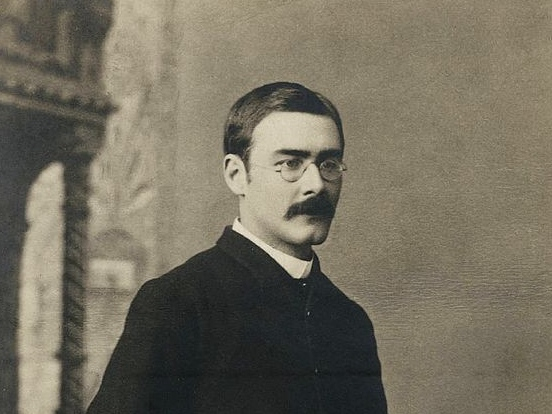 Rudyard Kipling (Bourne and Shepherd, circa 1892)